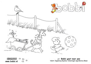 Kleurplaten van Bobbi. Deze komt uit Bobbi gaat naar zee
