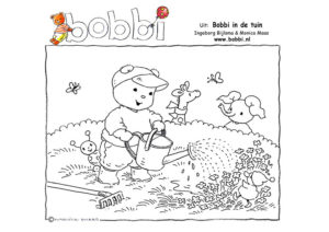 Kleurplaten van Bobbi. Deze komt uit Bobbi in de tuin