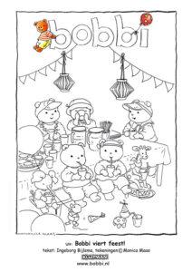 Kleurplaten van Bobbi. Deze komt uit Bobbi viert feest