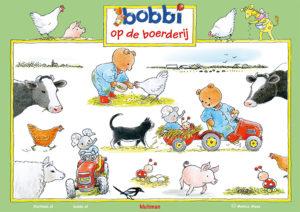 Bobbi op de boerderij poster van Monica Maas